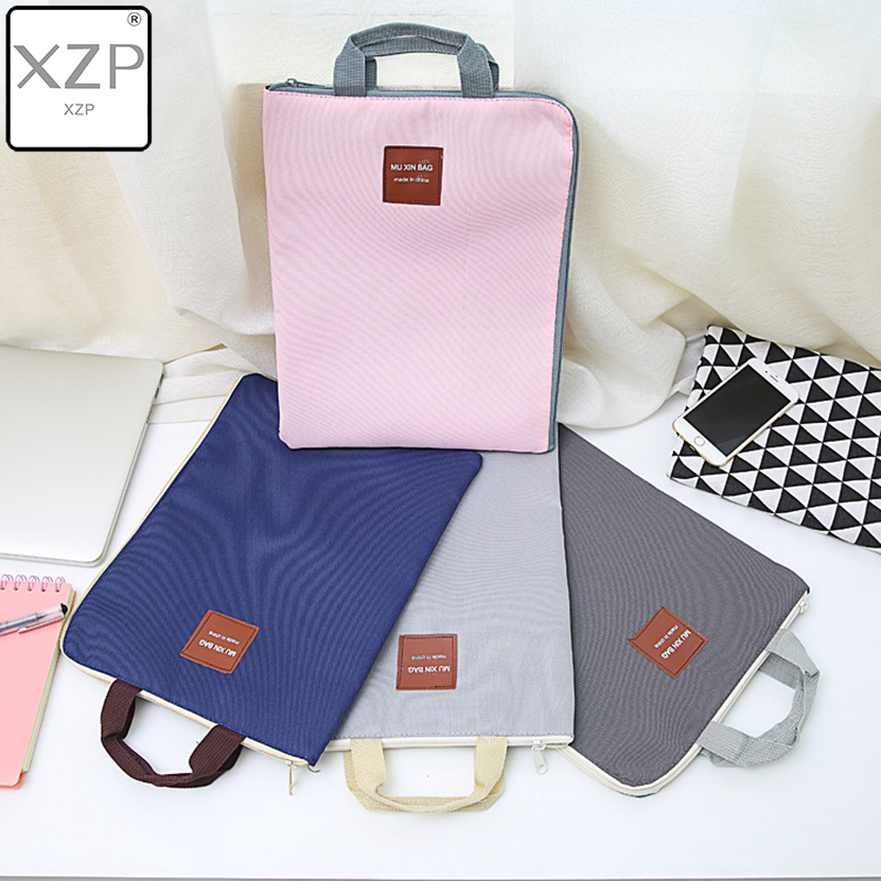 XZP Creative Zipper Document Bag Oxford Resist-wear Briefcase Students Children IPad Document Cover File Bag Meeting Package