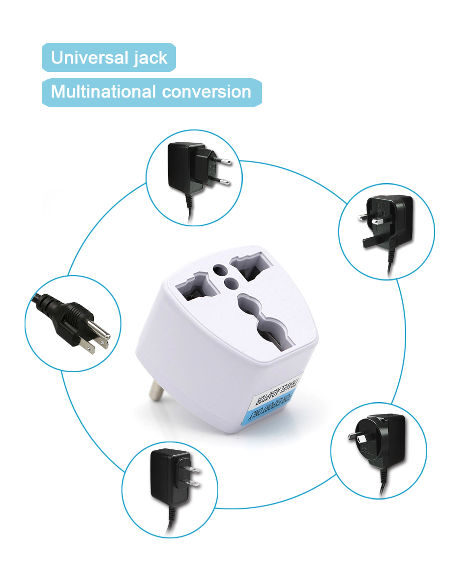 New Arrival 1 PC Universal UK US AU to EU AC Power Socket Plug Travel Electrical Charger Adapter Converter Japan China American (11)
