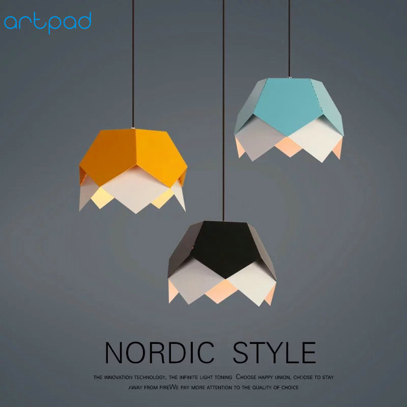 Artpad Modern Kid Children Room LED Pendant Lamp AC110V-220V E27 Nordic Pendant Lights For Coffee Bar Hotel Living Room FixturesArtpad Modern Kid Children Room LED Pendant Lamp AC110V-220V E27 Nordic Pendant Lights For Coffee Bar Hotel Living Room Fixtures