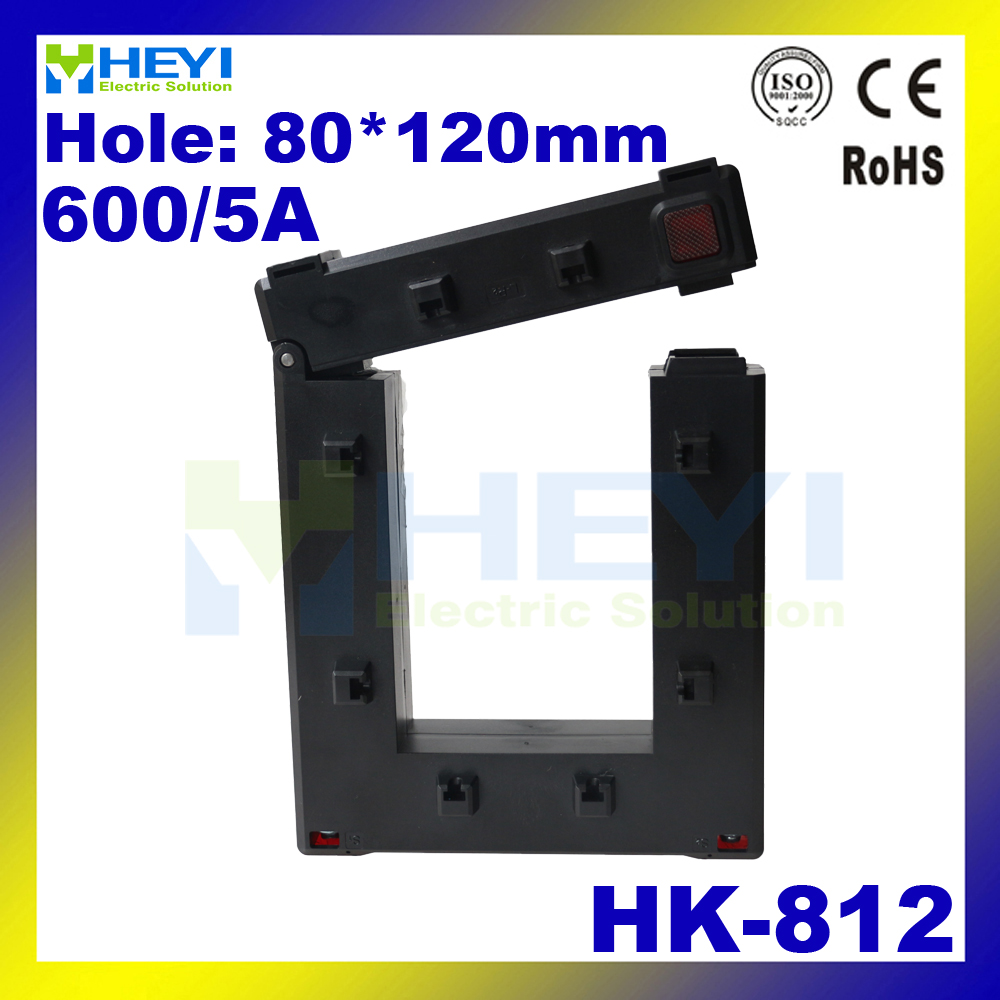 Amazing Update open type current transformer HK-812 600/5A Class 0.5 high capacity split core cts with hole 80*120mm