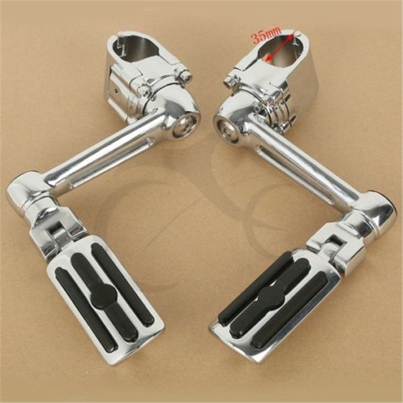 Image 4 - Motorcycle 1 1/4'' Highway Chrome Front Foot pegs Footrest For Honda GL1800 GOLDWING-in Foot Rests from Automobiles & Motorcycles