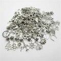 Mezcla de encanto 50 unids de plata tibetana colgante europeo del agujero grande cabida los granos de pandora pulsera del estilo de diy fabricación de la joyería