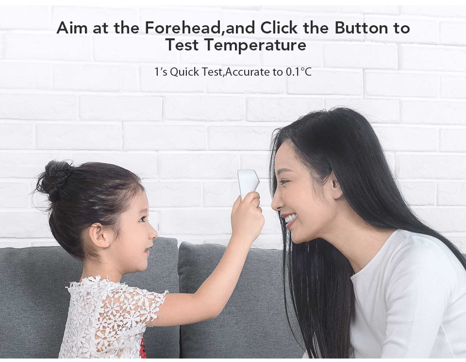 Original Xiaomi Mijia iHealth Thermometer LED Non Contact Digital Infrared Forehead Body Thermometer for Baby Kids Adults Elders (2)