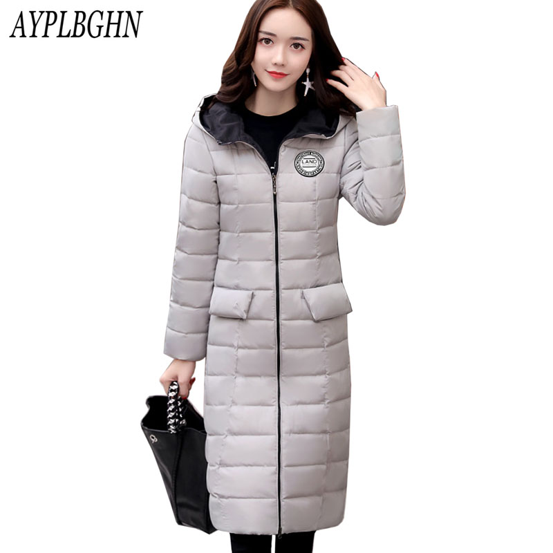2017 winter Autumn Long Cotton Women's Coats With Hood Fashion Ladies cotton Padded slim Jacket Parkas For Women Plus size 7L76 dower me women jacket 2017 autumn winter new fashion parkas padded ladies coats long quilted jackets plus size 3xl 4xl outerwear