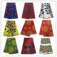 Alibaba Hot Sale Ankara Fabric African Wax Print Java Wax 100% Cotton Soso Batik Dress Indonesia 6 Yards 804