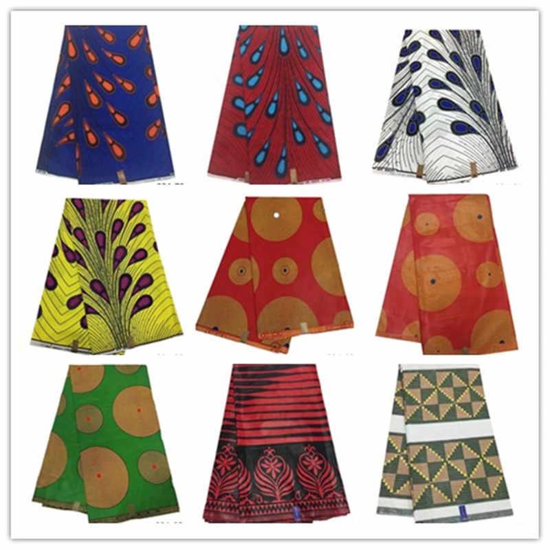 Alibaba Vendita Calda Tessuto Africano Della Stampa Della Cera Ankara Cera Java 100% Cotone Soso Batik Indonesia 6 Metri 804
