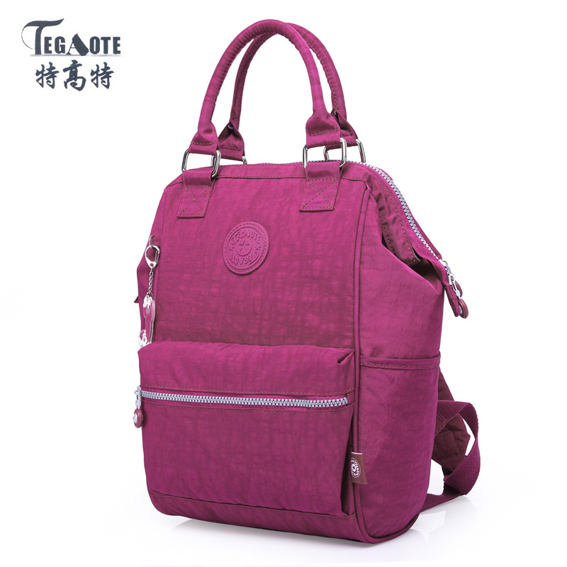 TEGAOTE School Backpack for Teenage Girl Mochila Feminina Backpacks Nylon Waterproof Casual Women Laptop Bagpack Female Sac 2017
