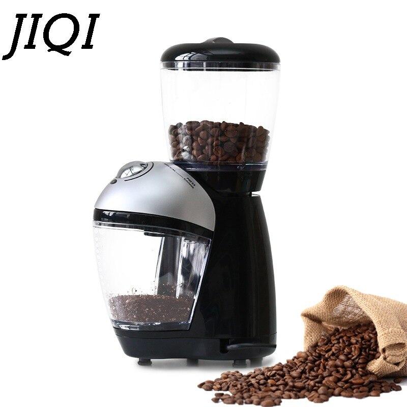 JIQI profesjonalnego włoski elektryczny młynek do kawy elektryczny młynek do kawy młynek do 220V ue w Elektryczne młynki do kawy od AGD na  Grupa 1