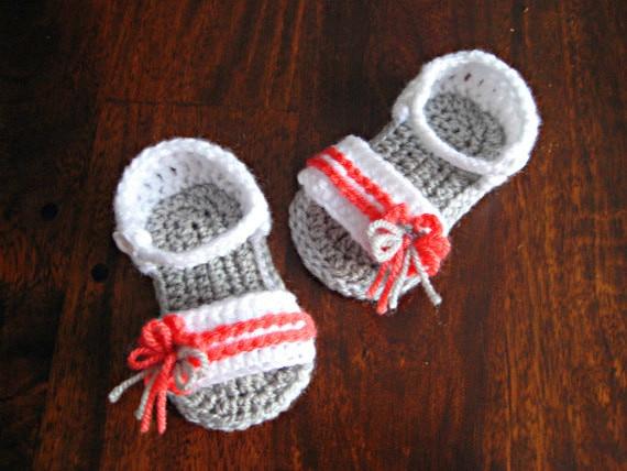 Häkeln baby sommer schuhe mädchen sandalen Neugeborene mädchen flip ...