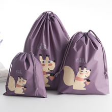 1pc Cute animals printed Storage Bag Waterproof Travel Clothes luggage Kids Toy Shoe Laundry Lingerie Cosmetics