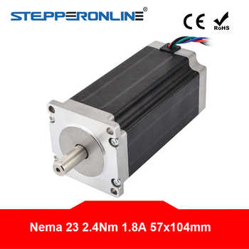 Nema 23 Stepper Motor 2.4Nm(340oz.in) 1.8A 4-lead 57 x 104mm Nema23 Step Motor 57 motor for CNC Router Lathe Robot - SALE ITEM Home Improvement