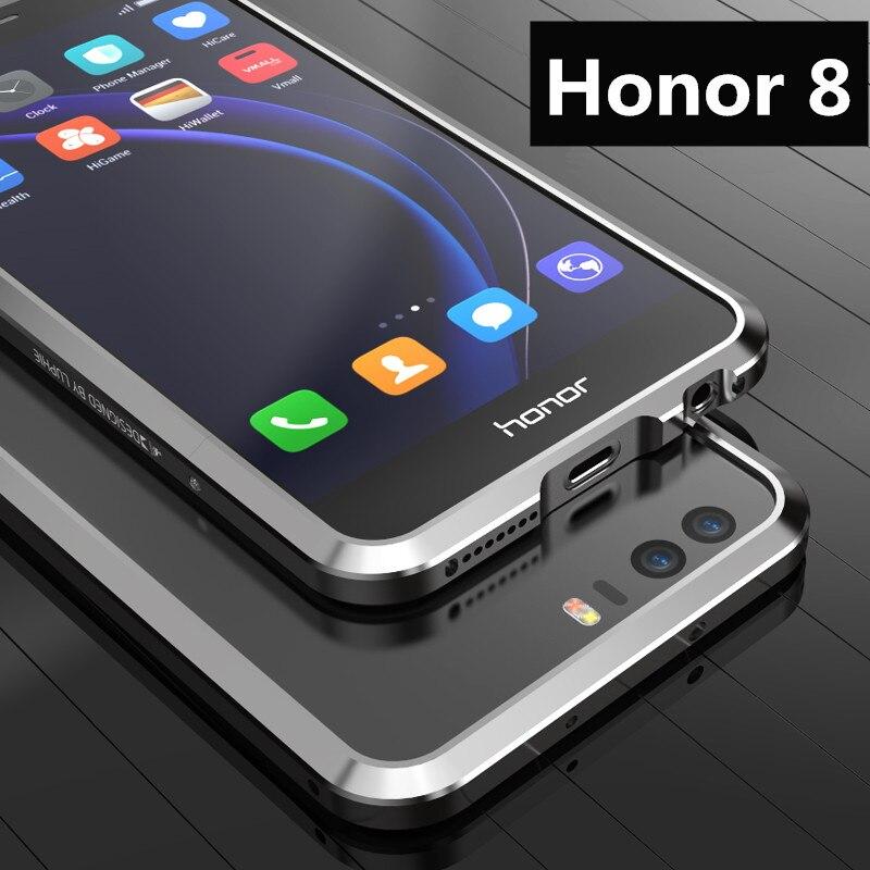 "imágenes para Para Fundas de Honor 8 caso de Parachoques Protector de Parachoques de aluminio de Lujo de lujo Ultra Delgada Para Huawei Honor 8 5.2"""
