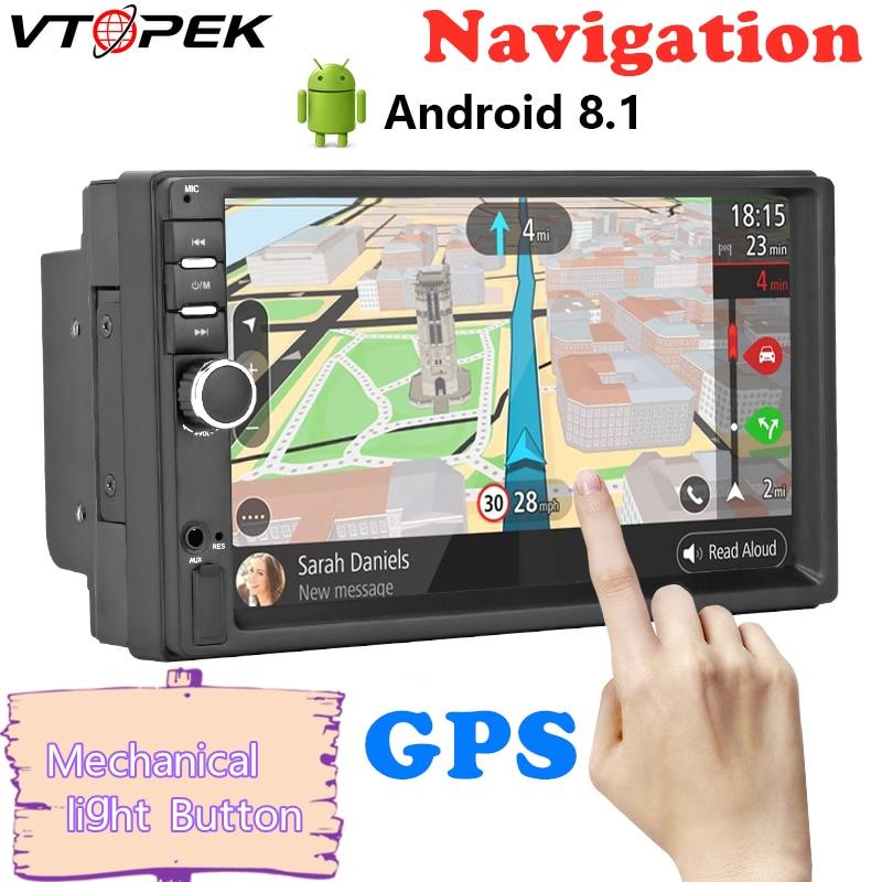 Android 8.1 Car Radio GPS Navigation Wifi 7'' 178*102mm 2din Multimedia Player Audio for Nissan TOYOTA Kia RAV4 Honda VW Hyundai
