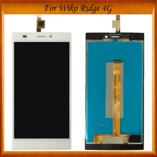 High Quality For Wiko Ridge 4G LCD+Touch Screen Assembly Digiziter Replacement LCD Display IN Stock 10pcs lot for wiko ridge fab 4g lcd display touch panel black color mobile phone lcds with touch screen free shipping