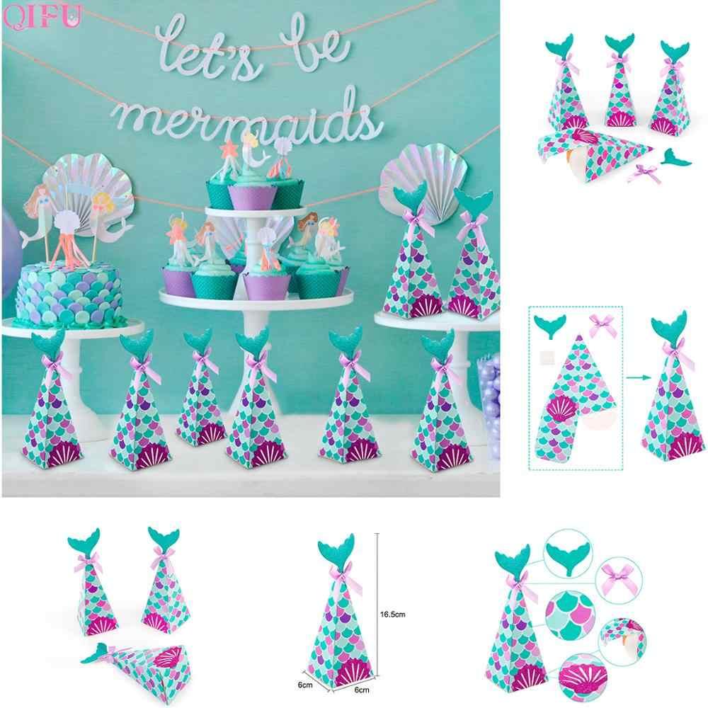 A Pequena Sereia Fontes Do Partido Tema Decoração Da Sereia Sereia Aniversário Decorações Do Partido Dos Miúdos Favor Festa de Casamento Aniversário Decor