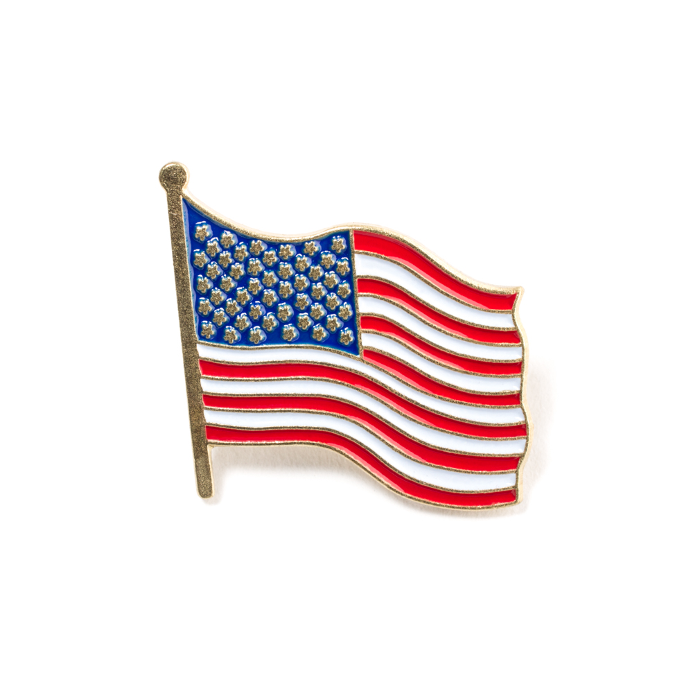 custom united states national flag pins enamel pin usa metal lapel pins badge with butterfly