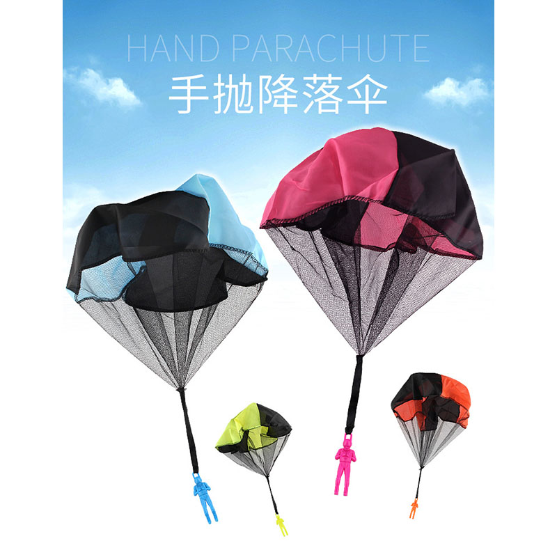 4pcs/set Hand Throwing kids mini play parachute toy soldier Outdoor sports Childrens Educational Toys free shipping
