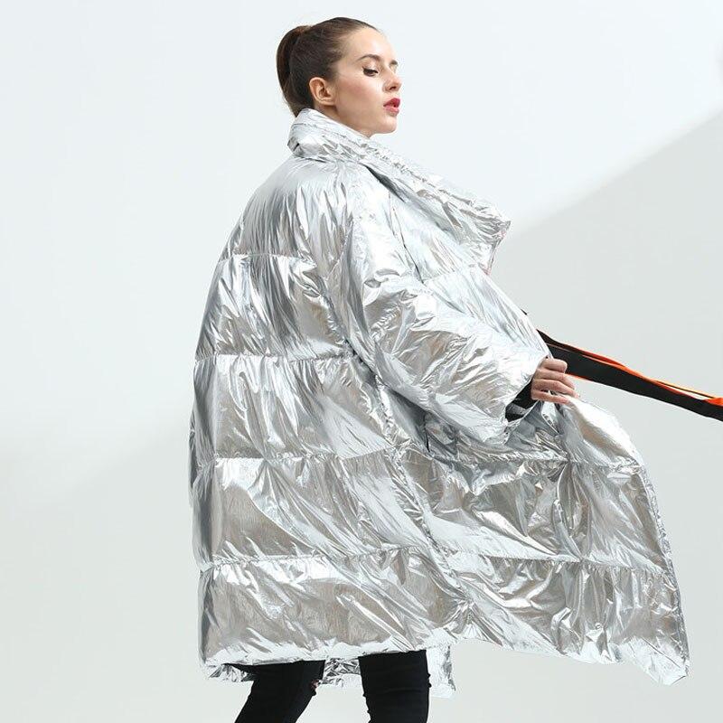 Argent Duvet Blanc 2018 Manteau Long Femelle Canard Nouvelle Épais De D'hiver Bas Lâche Veste Parkas Down Le Femmes Chaud Vers Des nSSp8R