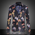 M-6XL 2016 New Style High Quality Floral Blazer Men Business Casual BH05 Men Blazer Masculino Slim Fit Terno Masculino
