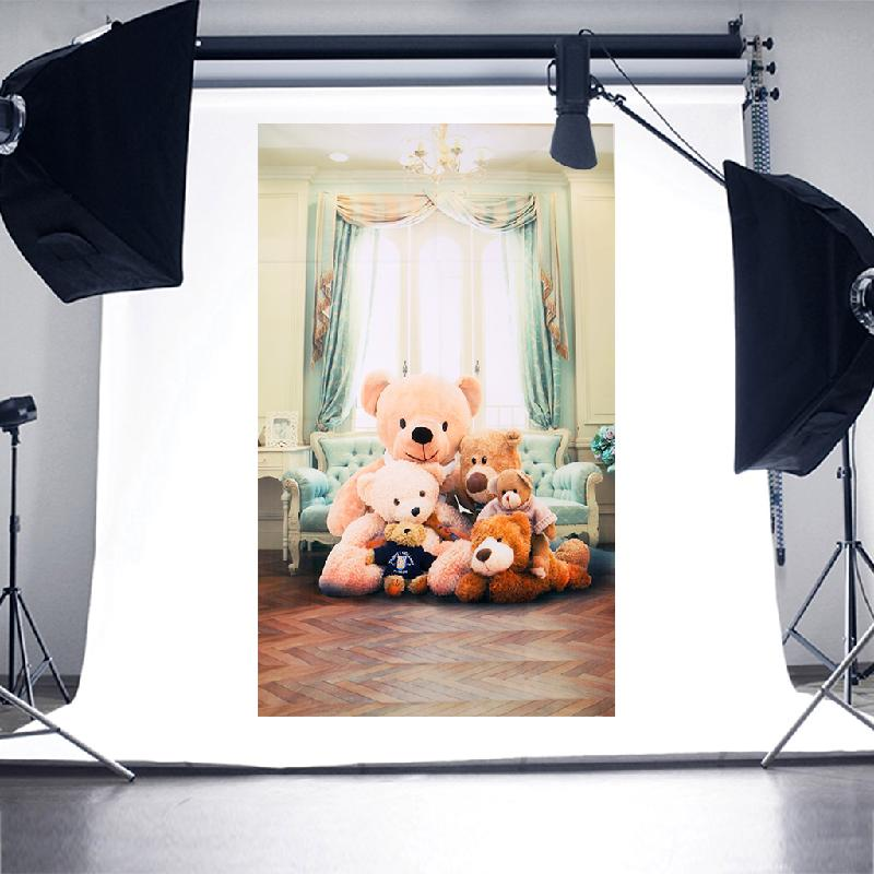 Cute Teddy Photography Background Theme Photographic Photo Studio Backdrop Product Studio Porps Art Fabric thin vinyl free 2017 scenic vinyl photography backdrops2349 photo studio photographic background5x8ft photo background photography studio