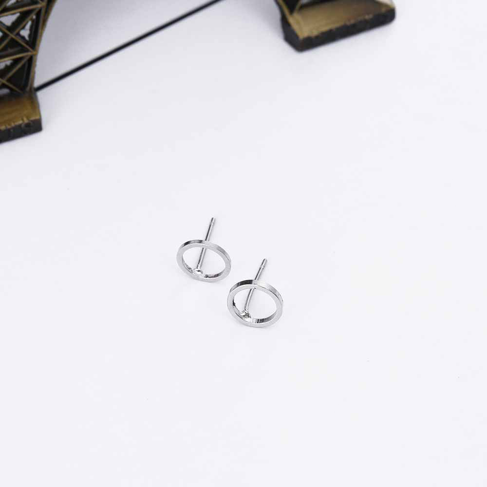 Fashion Minimalist Jewelry Gold Sliver Punk Geometric Round Circle Stud Earrings for Women Small Earrings Brincos Ear Jewelry 9