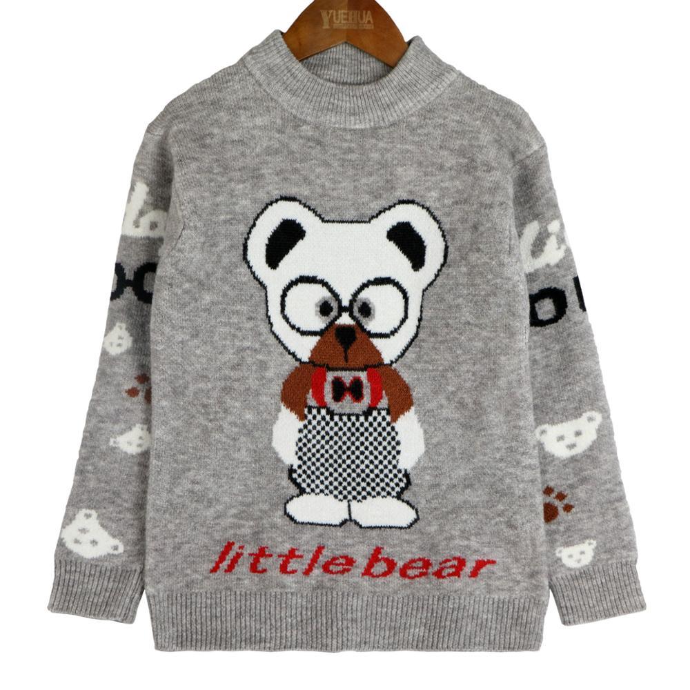 100% Wahr Neue Marke Frühling, Herbst Winter Jungen T-shirt Rollkragenpullover Cartoon Dicke Warme Pullover Pullover Kinder Langhülse Wolle