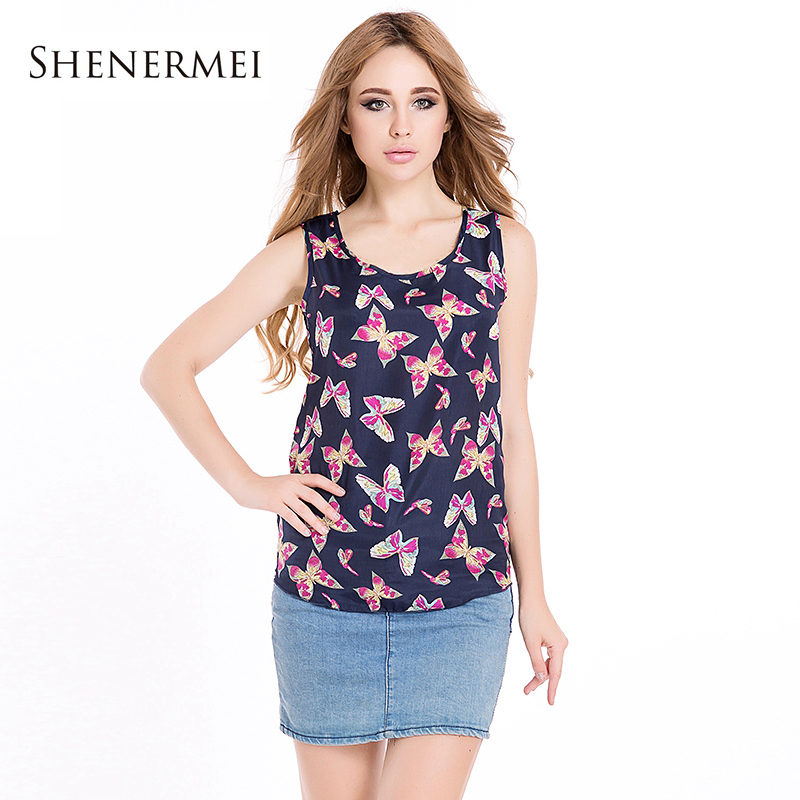 Plus Size 2015 Fashion Large for Women Butterfly Floral