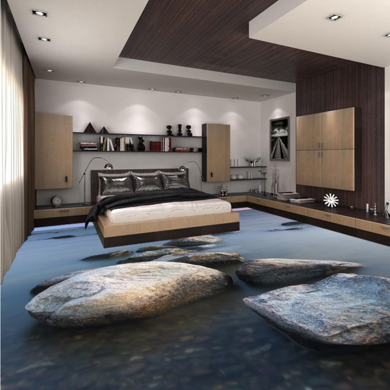 Free Shipping 3D stone floor stickers waterproof self-adhesive living room bathroom bedroom kitchen study flooring mural free shipping marble texture parquet flooring 3d floor home decoration self adhesive mural baby room bedroom wallpaper mural