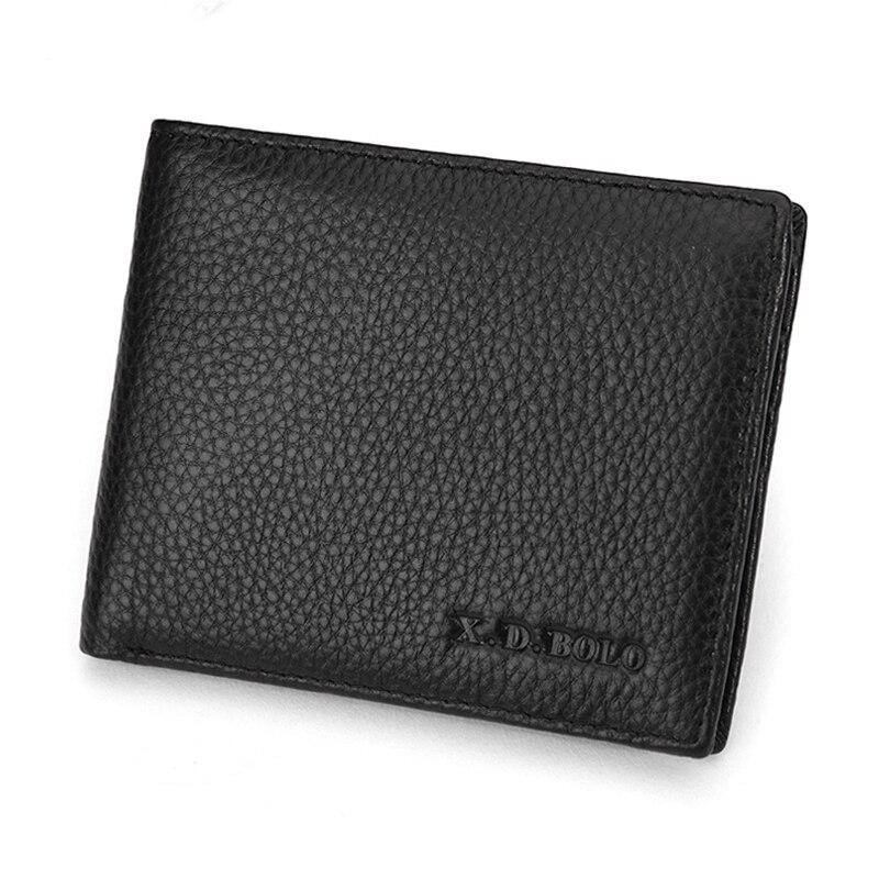 Men Wallet Genuine Leather Male Purse Business Card Holder Luxury ...