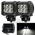"2pcs 4"" 18W 1260 Lumen Motorcycle 6 LED Spot Beam Fog Light Bar Off-road Truck Car SUV Boat 4wd ATV Auxiliary Driving Lamp"