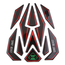 1 Pcs 3D Motorcycle Fuel Gas Tank Pad Protector Sticker For Motorbike Universal Fishbone Reflective 226x196x1.5mm