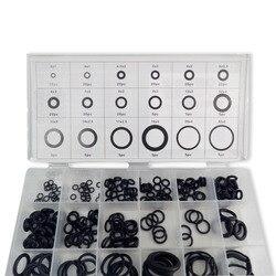 Уплотнительное кольцо AC9000 Acecare, черное Силиконовое уплотнительное кольцо для пейнтбола, 18 размеров/225 шт., с черной пластиковой коробкой