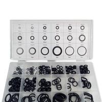 Güvenlik ve Koruma'ten Yangın Solunum Maskeleri'de AC9000 Acecare o ring PCP Paintball Silikon Siyah Conta/Kauçuk Değiştirmeleri Sızdırmazlık 18 Boyutları/225 adet plastik Kutu Siyah