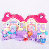 Peppa Pig George brinquedos PVC Action Figures toys Series of Amusement park Toys Family Member peppa pig Toy Baby Kid Gift