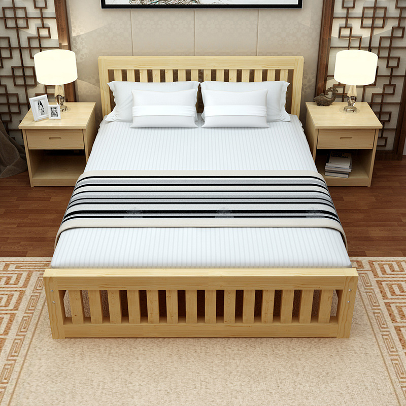 modern 100% Solid Wood pine Twin ,Full Platform Bed with ...