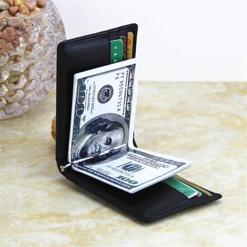 2019 Cartera de moda para hombres y mujeres Clip de dinero pinza abierta para dinero abrazadera de bolsillo ultrafina funda de tarjeta de crédito Mini billetera creativa