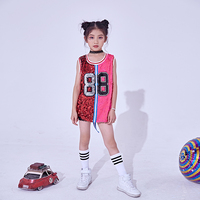 Dance wear children's female performance clothing girls youth costumes dance clothes sequins jazz dance costumes hip hop suits