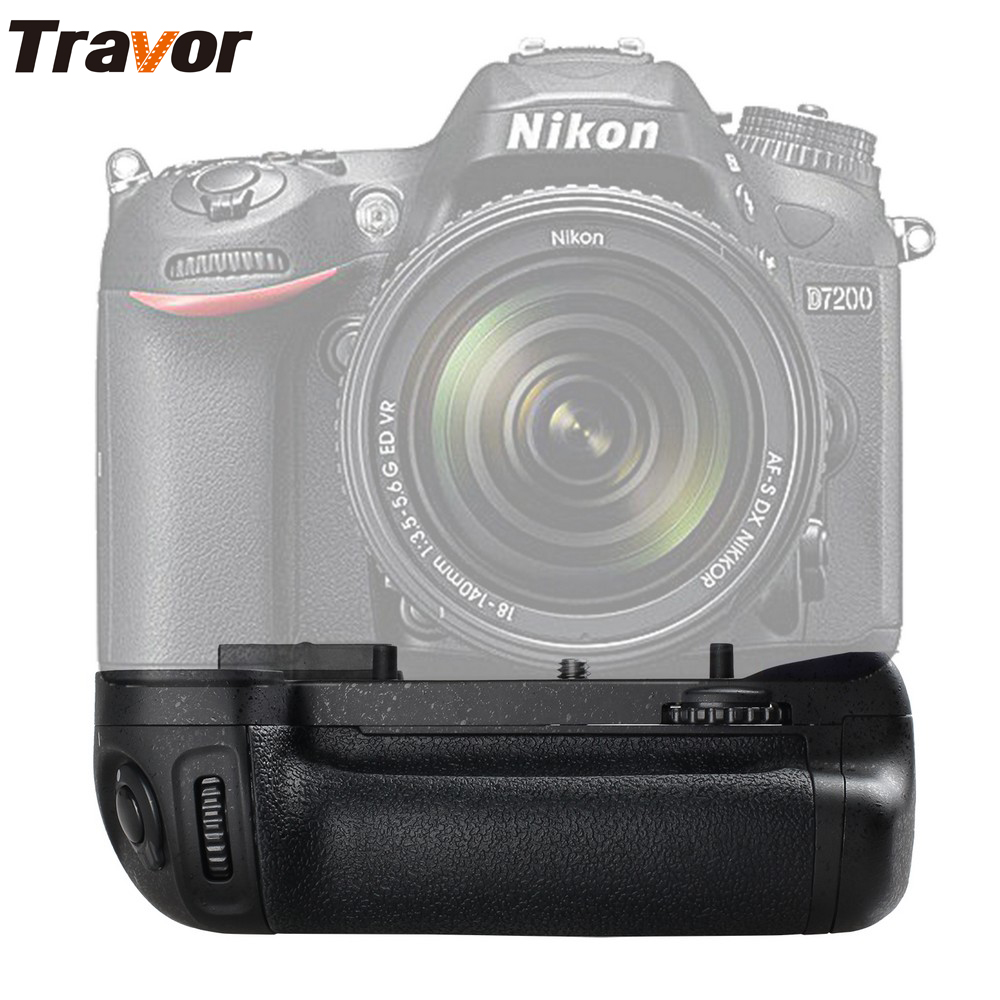 Travor Vertical Multi-Power Battery Grip Pack Holder For Nikon D7100 D7200 Camera Grip as MB-D15 Camera Replacement
