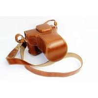 Genuine Leather Camera Case For FujiFilm Fuji XT10 X T10 XT20 XT30 Leather Camera Half Bag Body Set bottom Cover Open battery