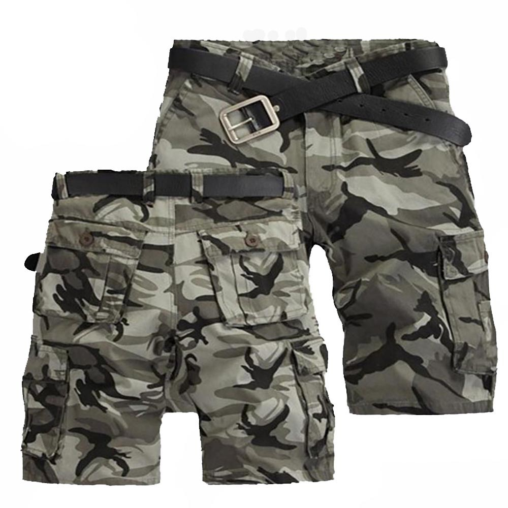 Shorts Cargo Men Fashion Joggers Camouflage Shorts Summer Camo Body Fitness Short Masculino Mens Clothing