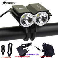 SolarStorm X2 étanche vélo lumière 5000LM 2 X T6 LED avant vélo phare double lampes pour vélo LED vélo + 18650 batterie