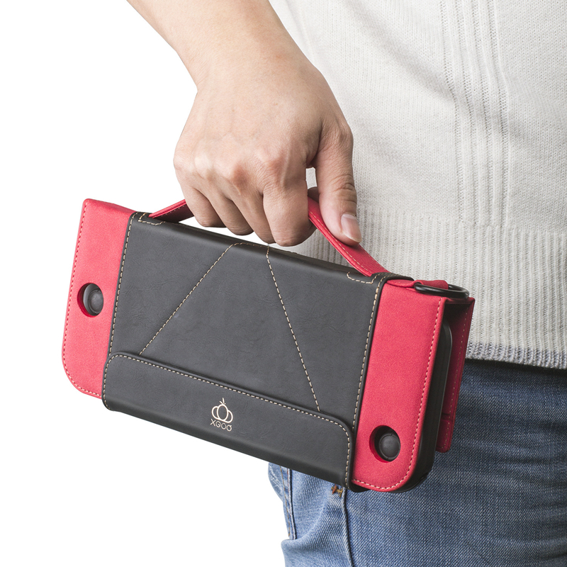 Portable Switch Case Stand For Nintend Switch Wallet Style Carrying Case PU Leather Protect Flip Travel Cover