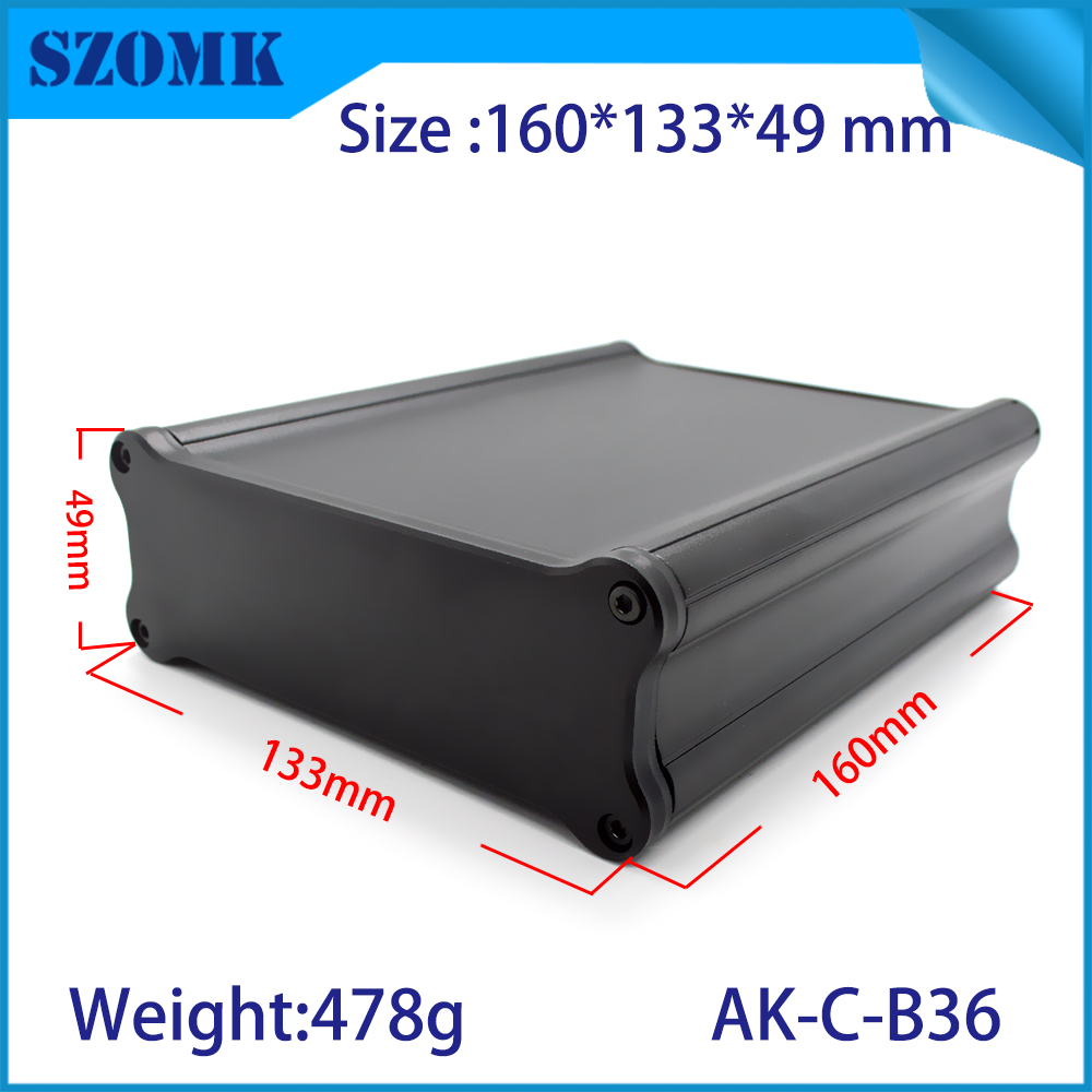 1 piece free shipping aluminium project enclosure die cast aluminum box 47(H)x132(W)x150(L) mm GPS aluminum housing junction box 122 45 110mm w h l aluminum enclosure for pcb case wall mounting aluminum box aluminum extursion box junction box