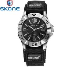 SKONE Brand Nylon Watchband Watches Men Quartz Wristwatches for Lovers Life Waterproof Women Watch SK6160