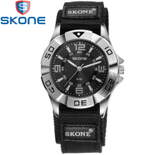 SKONE Brand Nylon Watchband Watches Men Quartz Wristwatches for Lovers Life Waterproof Women Watch SK6160