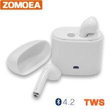 Mini auricular Invisible llamadas auriculares inalámbricos bluetooth 4.2 TWS earbud auriculares de cancelación de ruido con Micrófono para iphone android