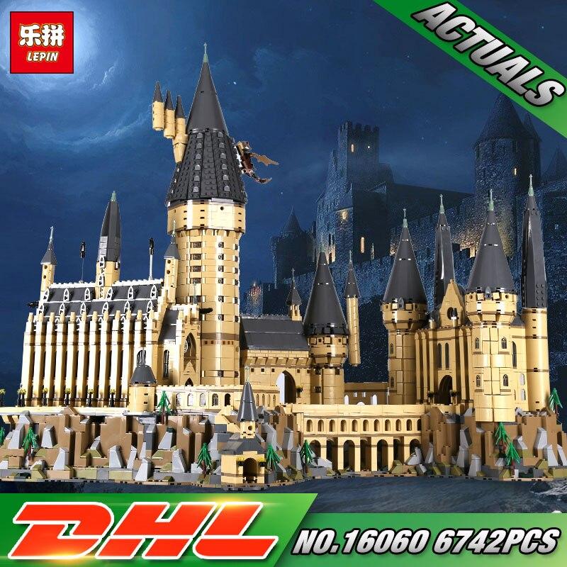 Lepin 16060 Movie serie de Harry Potter The 71043 Hogwarts Castle Set bloques de construcción ladrillos niños juguetes casa modelo regalos de navidad