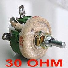 Мощный проволочный потенциометр 25 Вт 30 Ом, реостат, переменный резистор, 25 Вт.