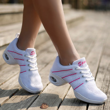 New Weaving White Women Shoes Summer Comfortable Soft Sports Dancing Shoes Modern Jazz Dance Shoes Air Cushion Sneakers Woman sneakers modern jazz dance shoes woman sasan 8880 women shoes slip up white athletics aerobics training shoe cowhide upper hot