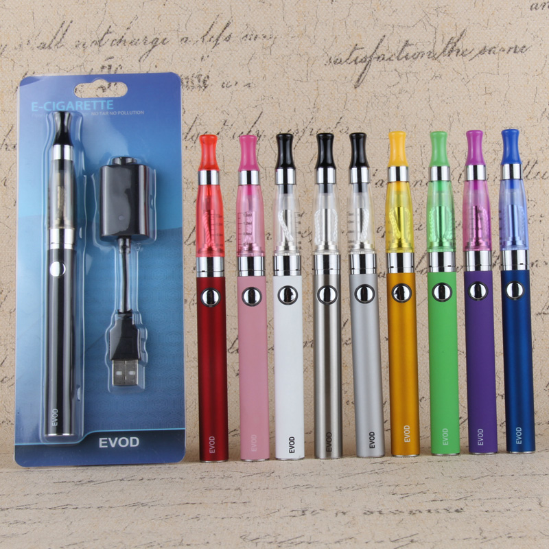 Evod Ce4 Blister Kit Colorful Ego T Evod 650mah 900mah 100mah Battery Usb Charger Electronic Cigarette Shisha Vaper Pen Kits